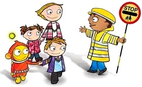 Dibujo de la Educación Vial a colores