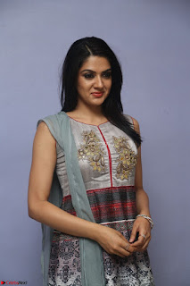 Sakshi Chaudhary Beautiful Emroidery Work Sleeveless Anarkali Dress 003.JPG