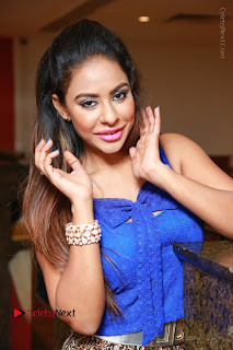 Telugu Actress Srilekha Reddy Latest HD Pos in Sleeveless Blue Top at Muse Art Gallery  0076.JPG