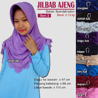 jilbab bergo dengan kerut di samping-ajeng seri 2