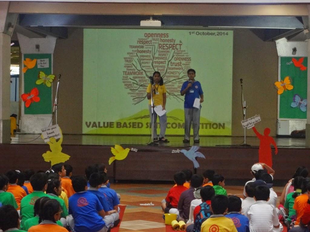 Value based skit competition | Ajmera Global School (2014-15)
