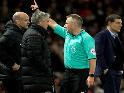 Agen Bola Online Terpercaya - Buntut Dari Kartu Merah, Mourinho Terancam Diskorsing Enam Laga