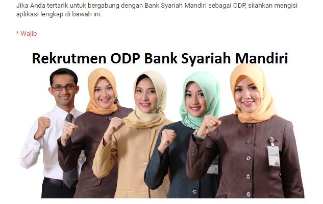 Rekrutmen ODP BSM terbaru Desember
