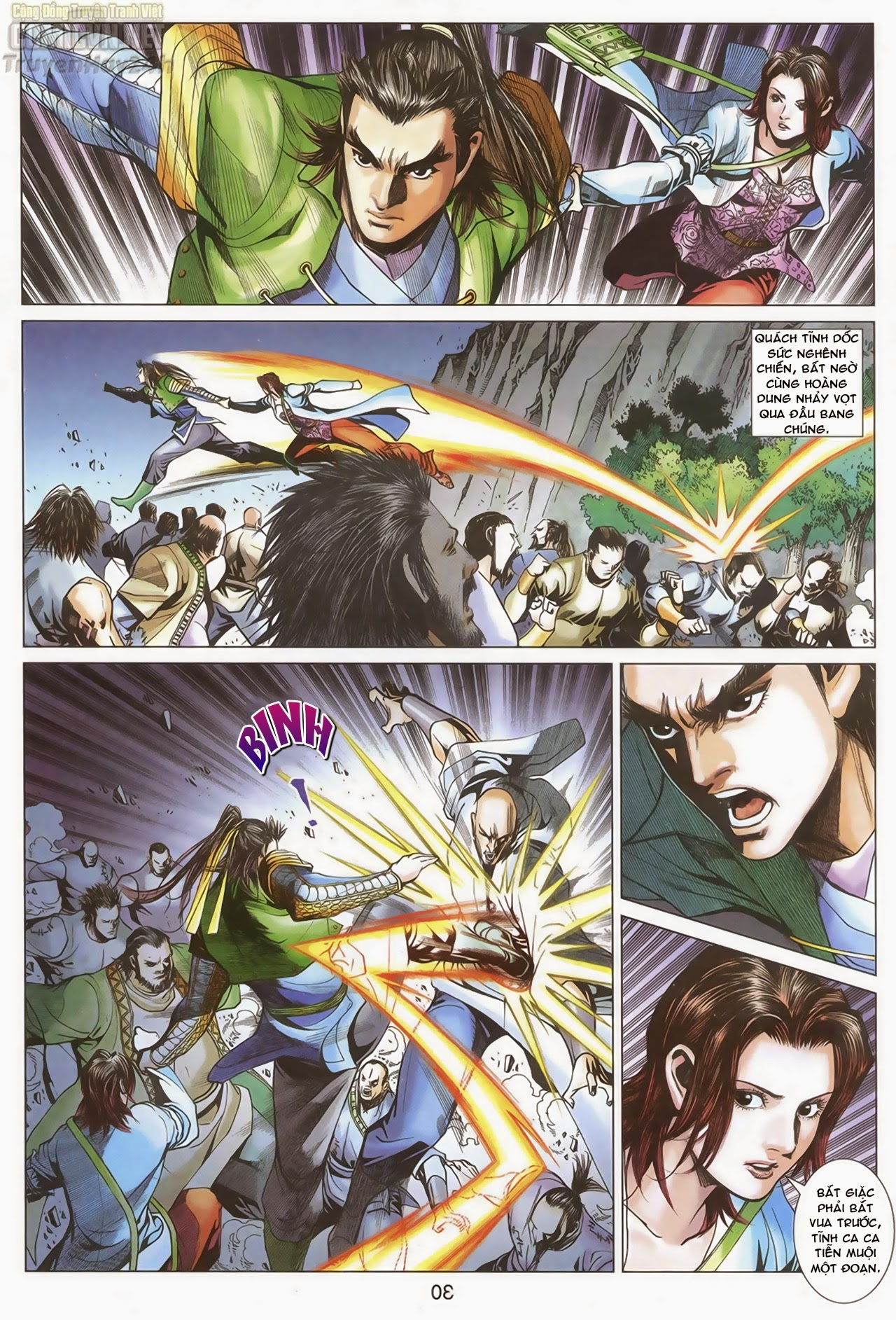 Anh Hùng Xạ Điêu anh hùng xạ đêu chap 67: quyết chiến hiên viên đài trang 29