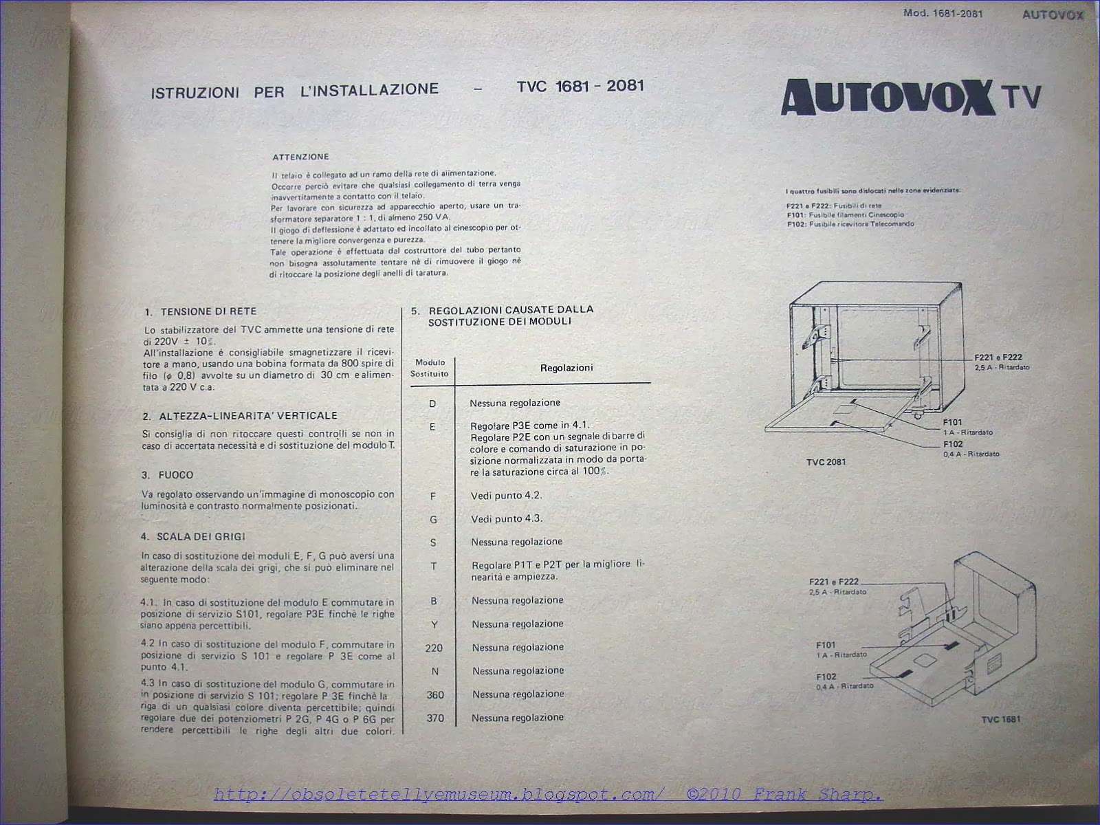 Obsolete Technology Tellye !: AUTOVOX TVC1681 AX32 \