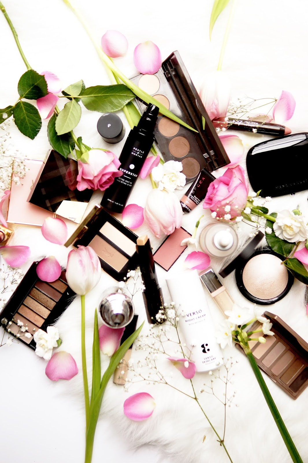 Barely There Beauty blog spring favourites flatlay