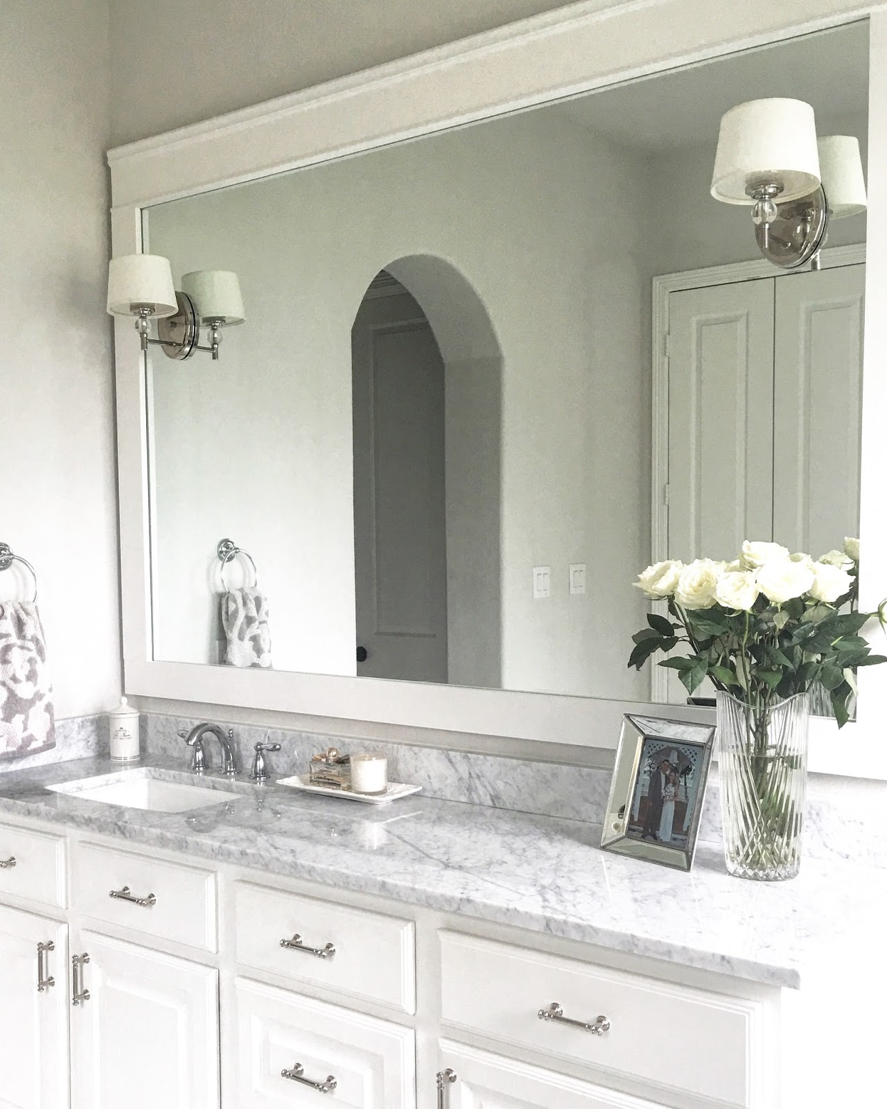 Classic Style Home: DIY Bathroom Mirror Trim