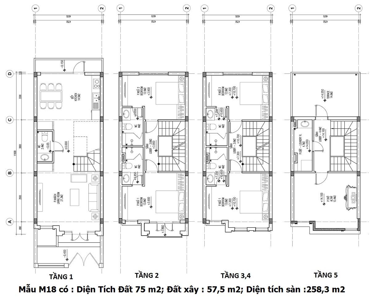 Mẫu thiết kế M18 Shophouse