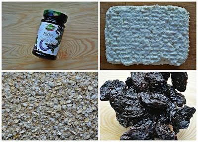 Słodkie bułeczki otrębowe z czarnym bzem, suszonymi śliwkami i płatkami czekoladowymi - Składniki