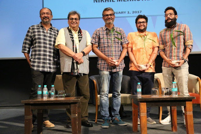 Left to Right Anjum,Subhash Ghai ,Nitesh Tiwari,Nikhil Mehrotra, Shreyas Jain