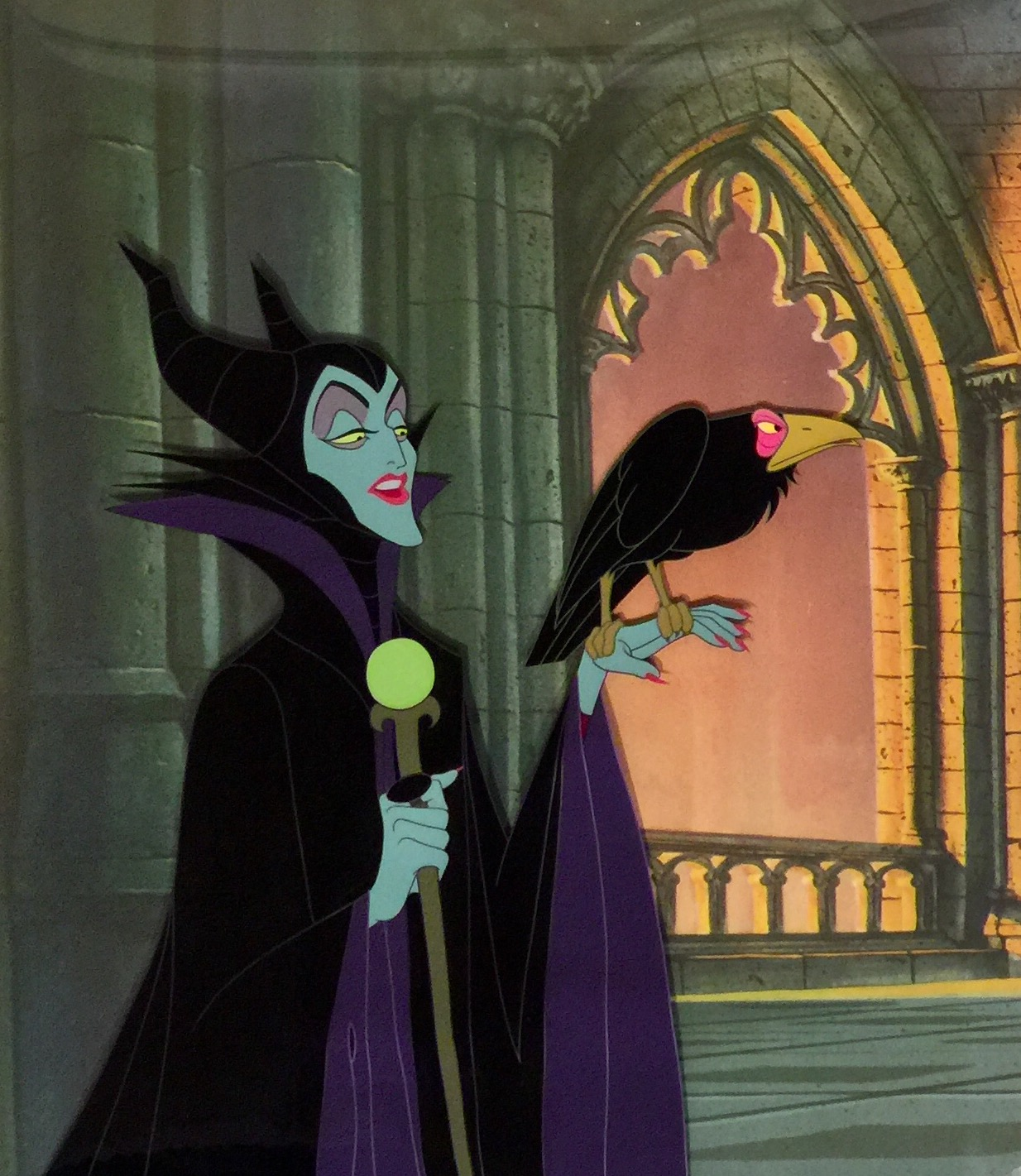 Animation Collection: Original Production Cel of Maleficent and