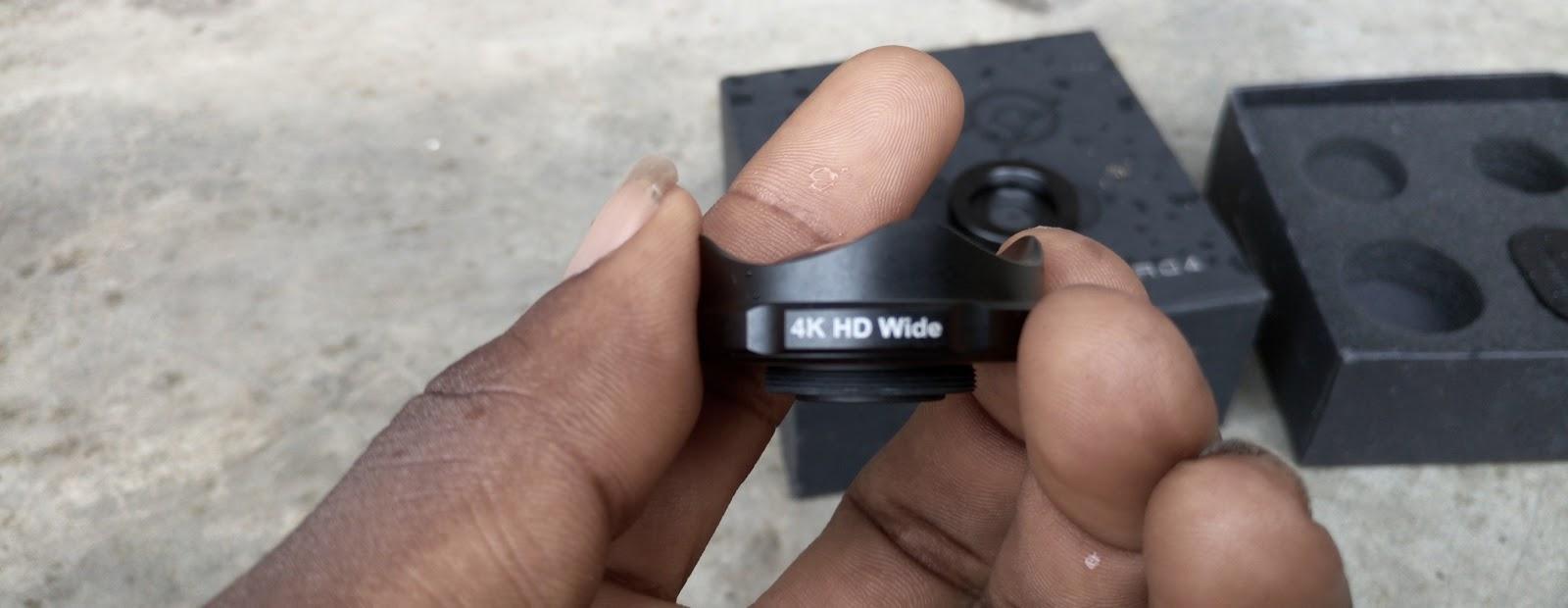 4K wide angle lens