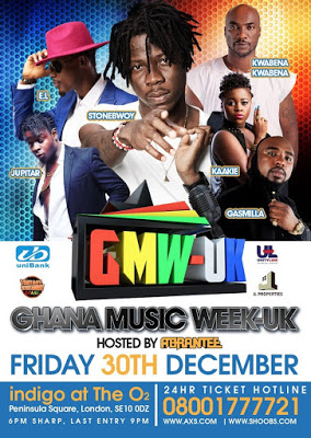 STONEBWOY, ABRANTEE, E.L AND MORE TO HEADLINE GHANA MUSIC WEEK UK ON DECEMBER 30