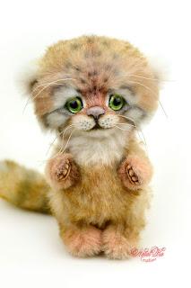 NatalKa Creations, Natalie Lachnitt, artist teddy bear, Künstlerteddy, manul kitten, Katze, пушистый кот, artist cat, teddy cat, авторская игрушка, artist toys, іграшка тедді, котеня