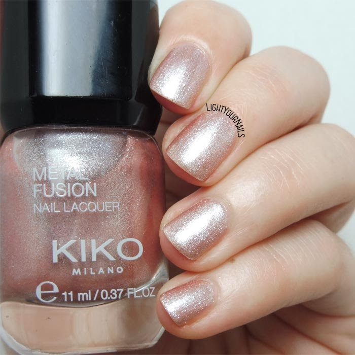 Smalto rosa antico metallizzato Kiko Metal Fusion 03 California Rose antique pink nail polish #KIKOnails #kikocosmetics #metallicnails #lightyournails