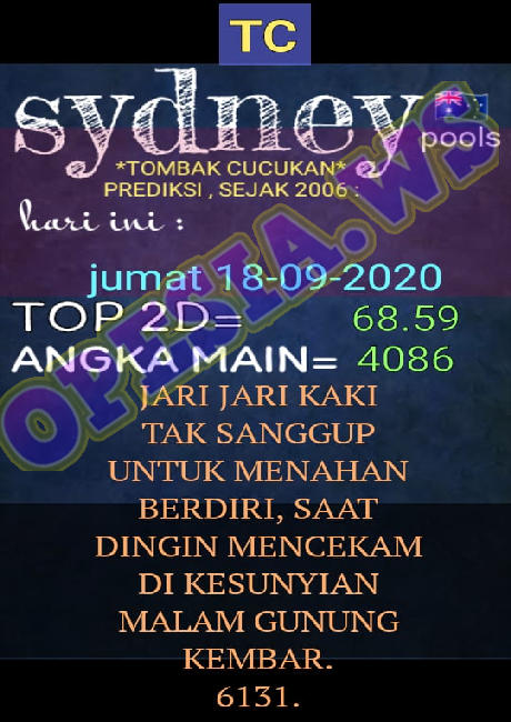 Kode syair Hongkong Sabtu 19 September 2020 23