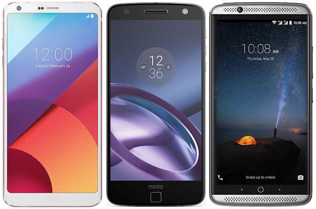 LG G6 vs Motorola Moto Z vs ZTE Axon 7