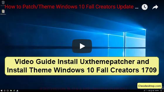 UxThemePatcher For Windows 10 - Cleodesktop I Customized Desktop