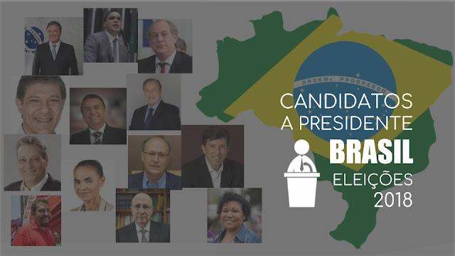 candidatos eleições 2018 Brasil