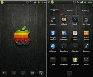 download tema android gratis iPhone blackGo launcher  theme