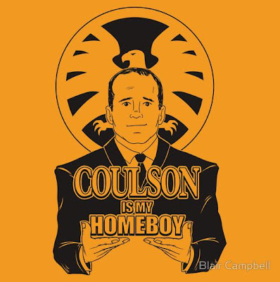"Marvel's The Avengers ""Coulson is my Homeboy"" T-Shirt by Blair Campbell"