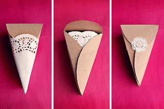 Pasta Dilimi Şeklinde Hediye Paketleri Yapımı