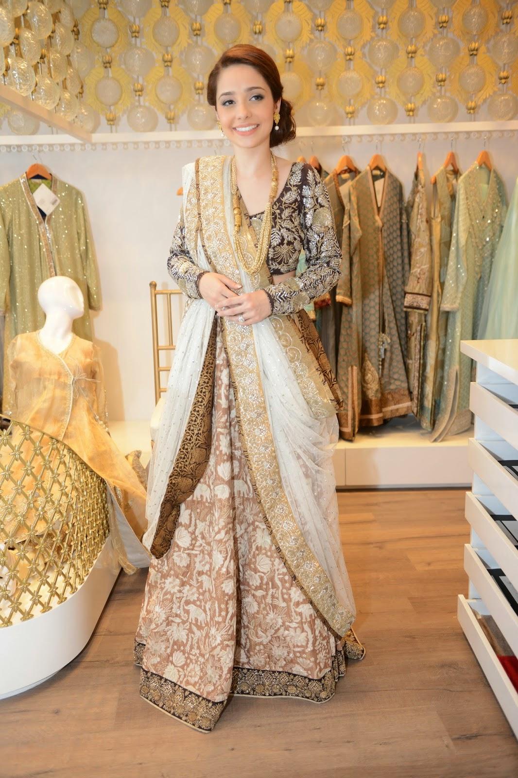 nida azwer lehnga choli sari pakistani fashion