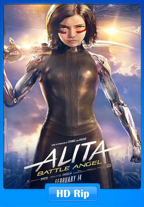 Alita Battle Angel 2019 720p HDCAM | 480p 300MB | 100MB HEVC Poster