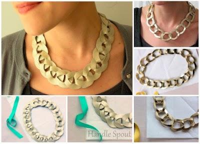 Como hacer un Collar forma Cadena con Cuero