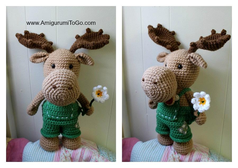 Moose On The Loose Free Pattern Amigurumi To Go