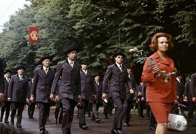 1973 год. Рига. Улица Ленина. 100-летие Праздника песни