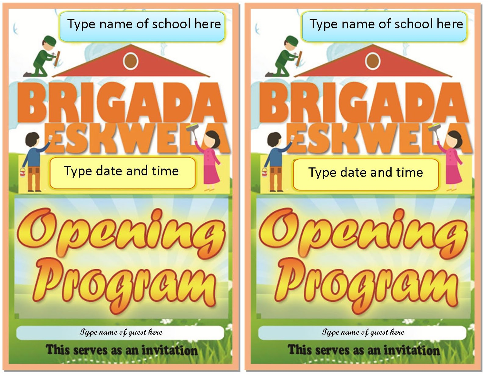 May 2016 deped lps printable brigada eskwela program layout design yadclub Image collections