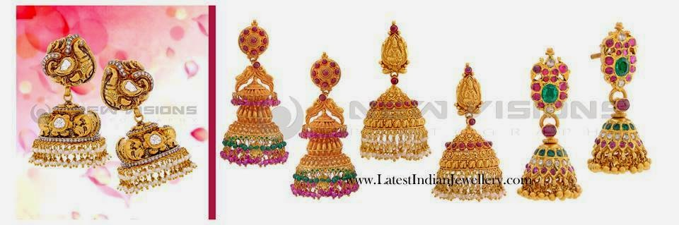 Gold Jhumkas Earring Designs