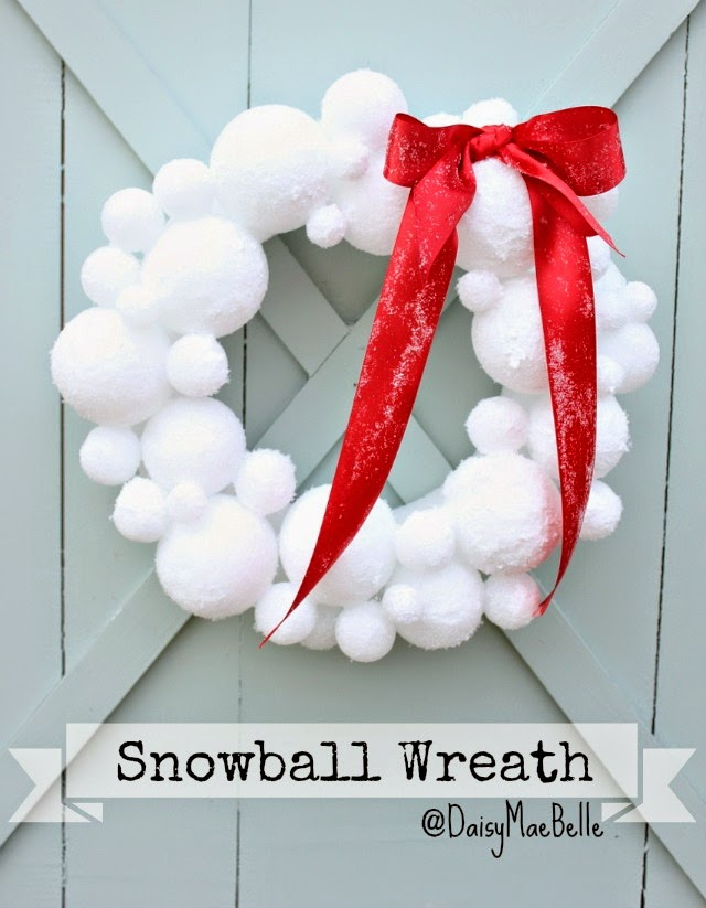 Corona de bolas de nieve