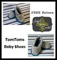 Crochet Tomtoms Baby Shoe
