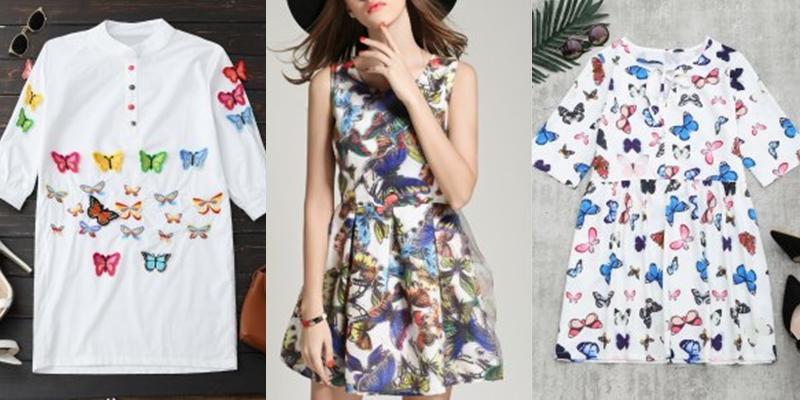 Butterfly dress czyli sukienki w motyle z Zaful.