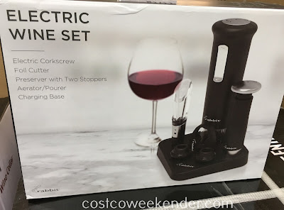 Make drinking a glass of wine that easier/better with the Rabbit Electric Wine Set