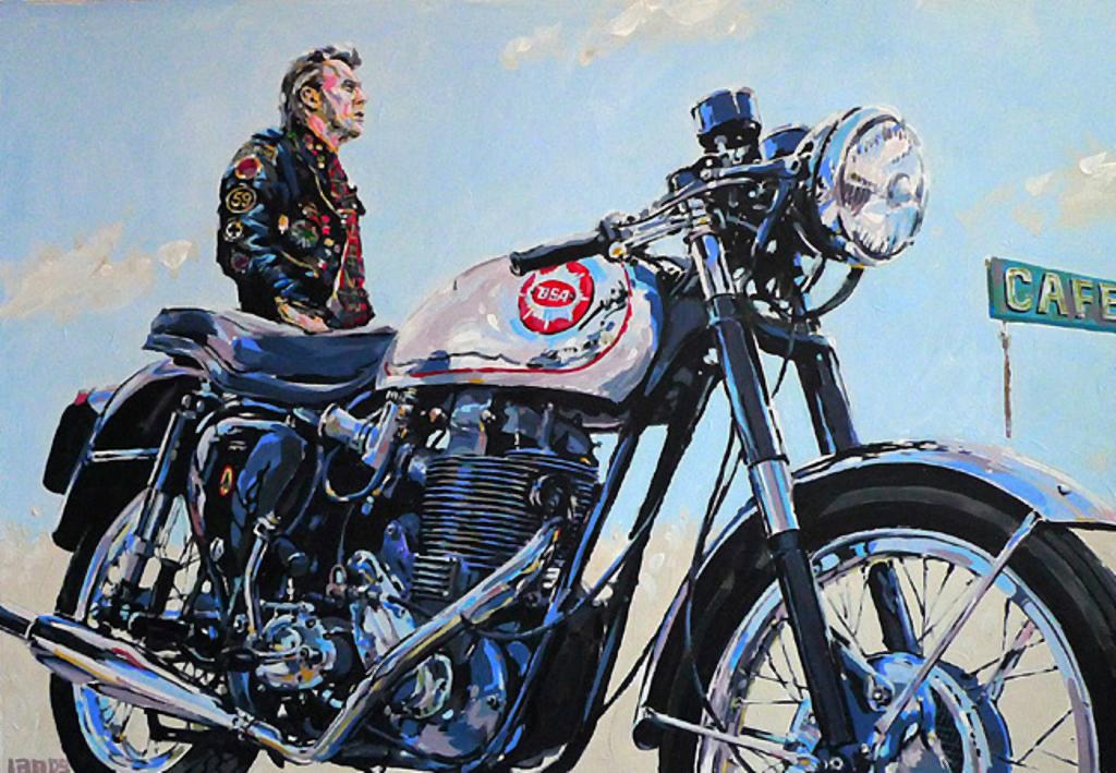 rocker motorcycle gold star bsa club artwork racer goldstar cafe bike archive