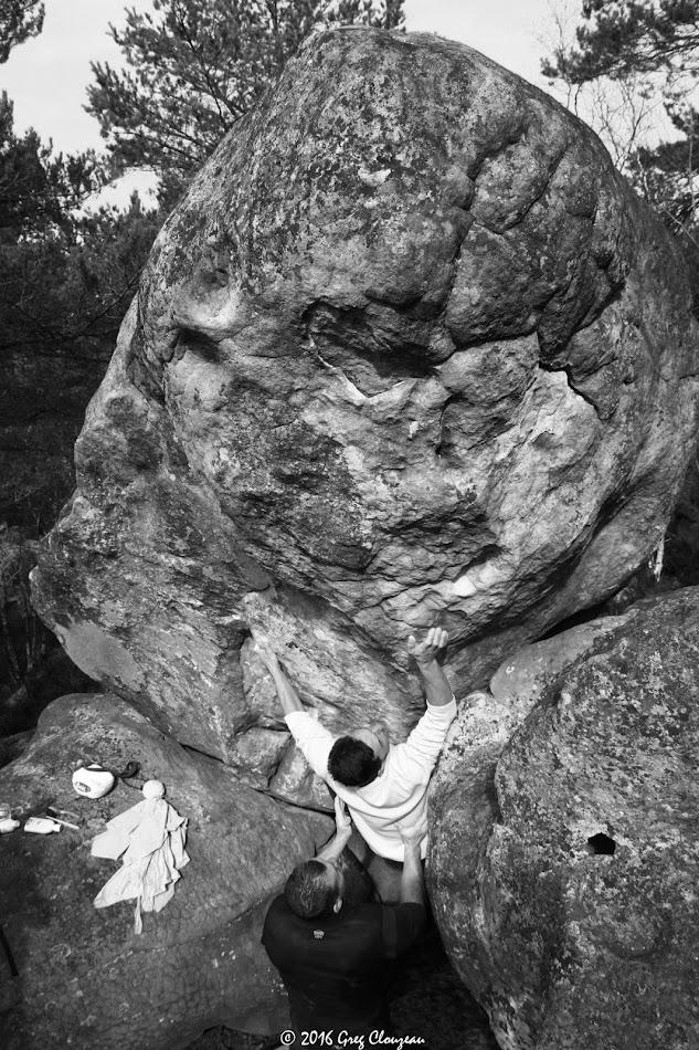 Ivan dans Gorge profonde, 6C/7A, Sentier bleu 16 (C)2016 Greg Clouzeau