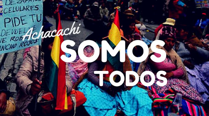 """SE INICIA DESDE EL ALTO, LA CAMPAÑA:  """"ACHACACHI SOMOS TODOS"""""""