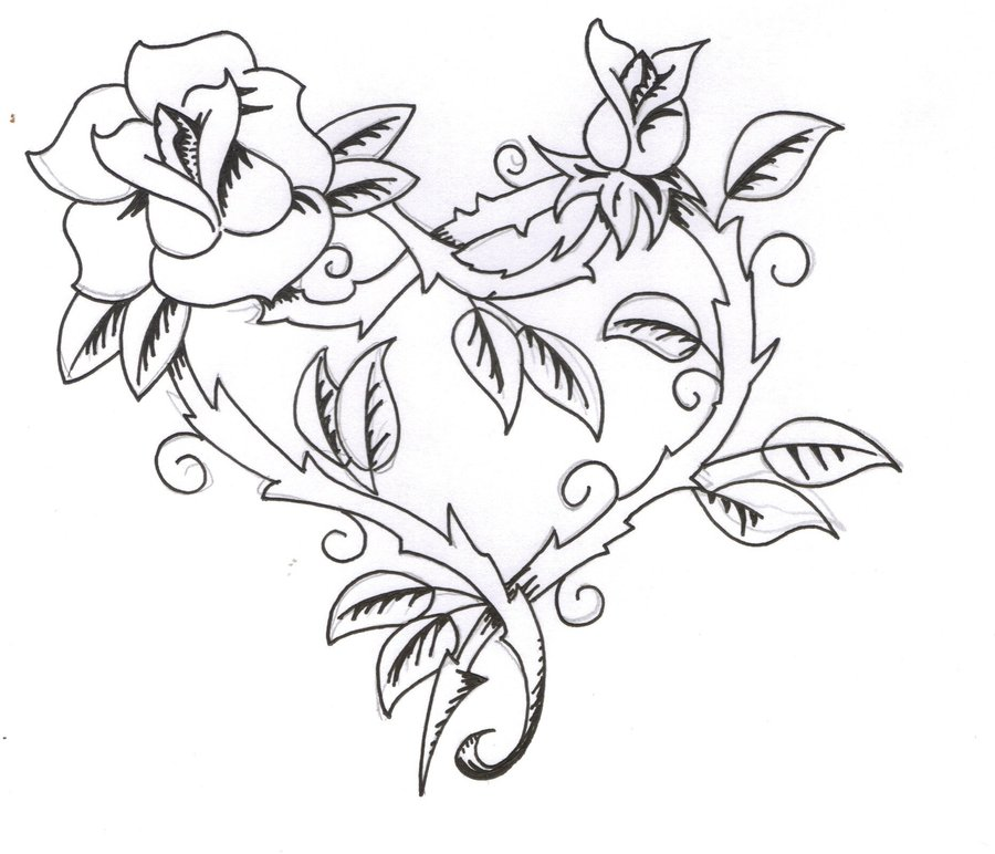 Tattoo Designs Hearts And Roses: Black Rose Tattoo Designs Ideas Photos Images