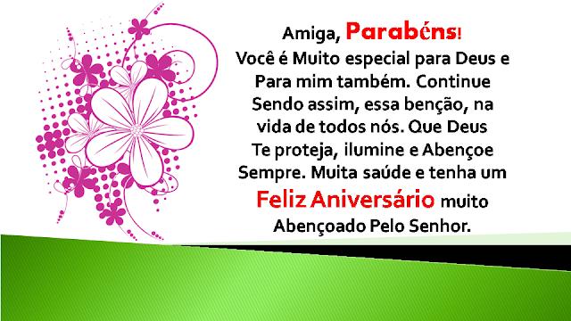 anniversarius - Mensagem de Aniversário para Amiga, Parabéns!