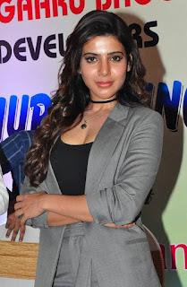 Actress Samantha Latest Stills in Stylish Dress at Bangaru Bhoomi Developers Brochure Launch  0002