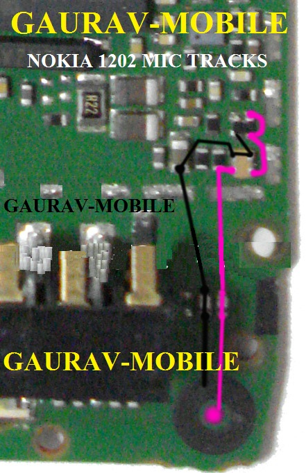 GAURAVMOBILE: Nokia 1202 Mic Solution