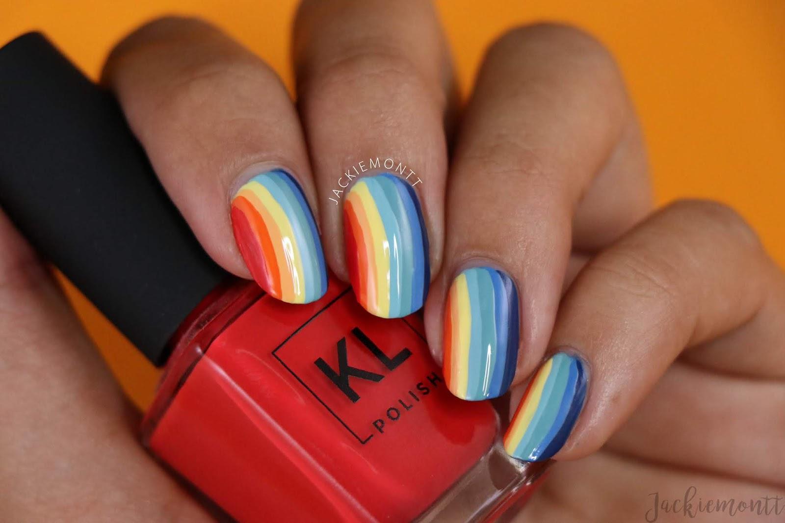 Rainbow Layered Nail Art 🌈🌈 - JACKIEMONTT