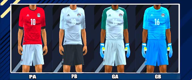 80887d659 Egypt 2018 World Cup Kits PES PSP For Emulator PPSSPP