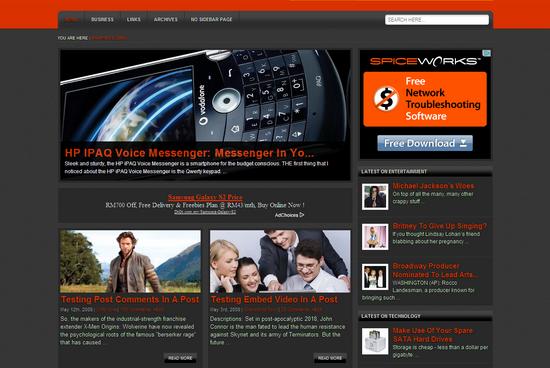 Free Westar WordPress Theme