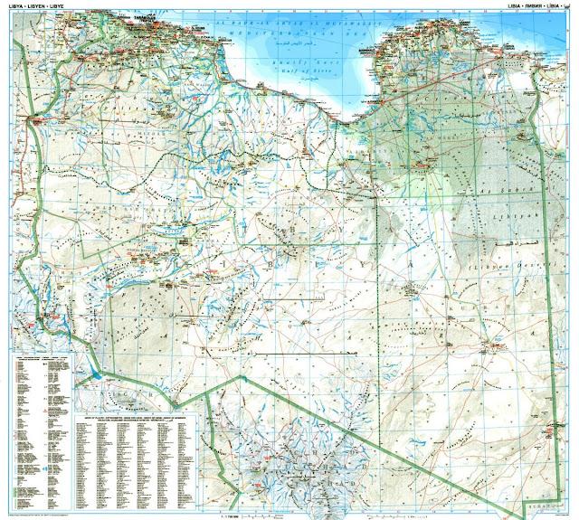 خريطة ليبيا Libya Map