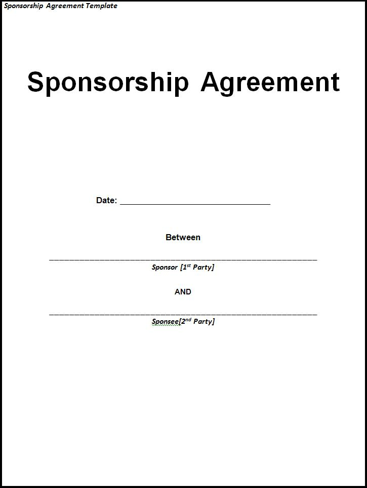 Simple Free Sponsorship Proposal Template - Free Templates Download