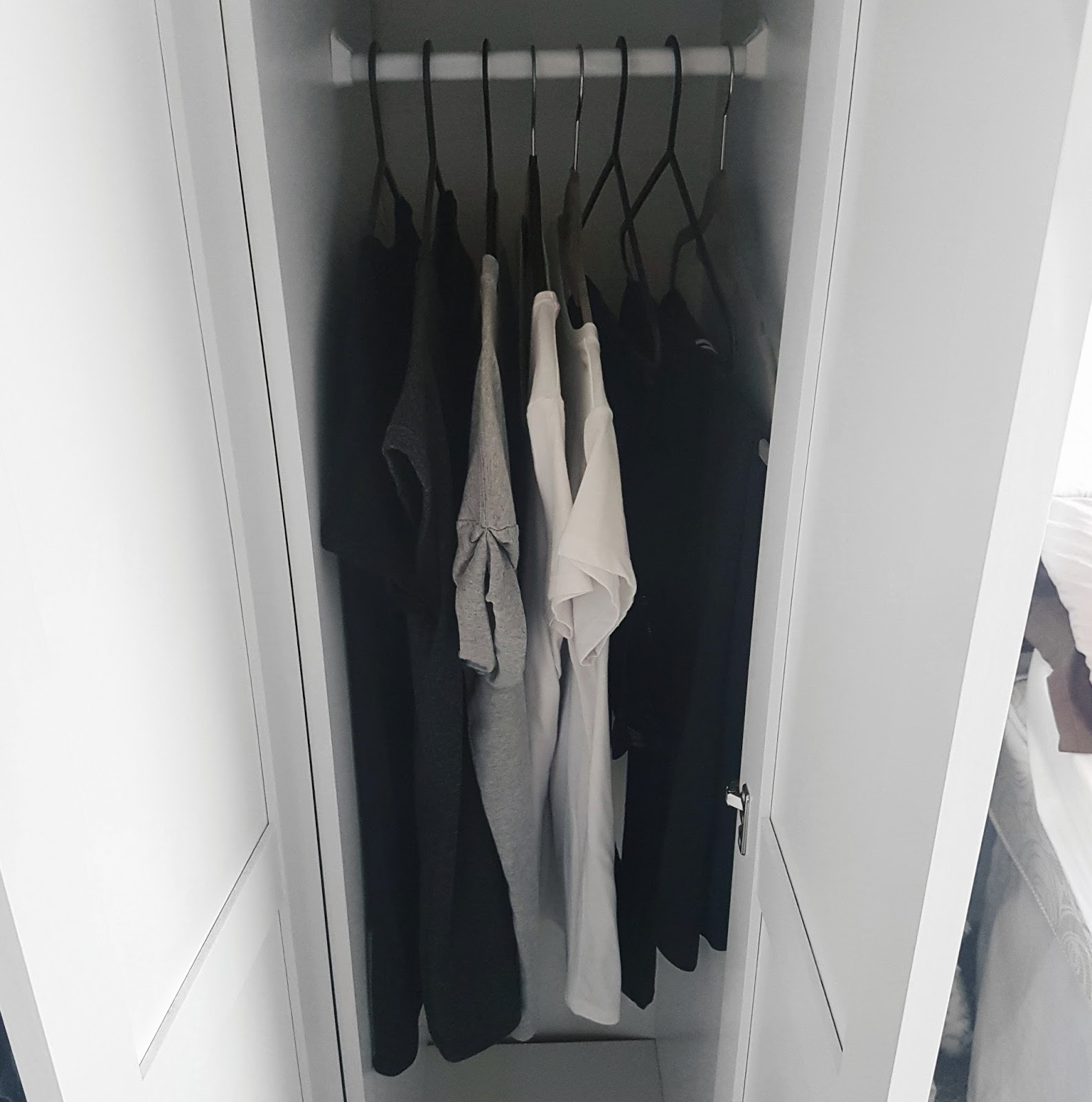 Decluttered Wardrobe
